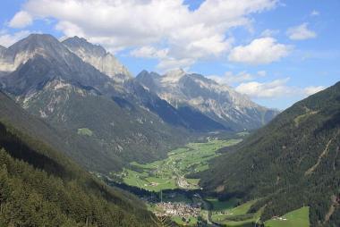 Pohled na údolí Anterselva